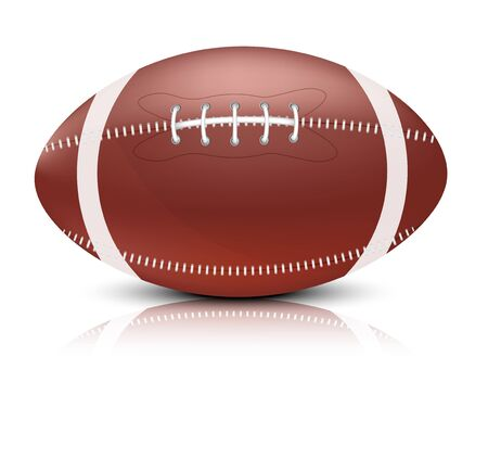 pigskin: Bright background with brown leather american ball