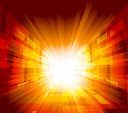 bright future: Bright background with rays in orange color