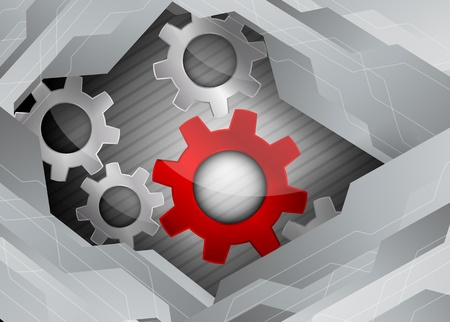 metall: Bright tech background with grey metall gears