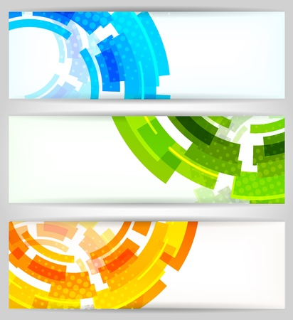 Bright Color Tech Background With Gears Stock Photo, Picture And ...