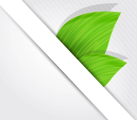 smooth shadow: Background with green leaves and white poster