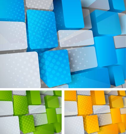 Abstract bright tech background with 3d element photo