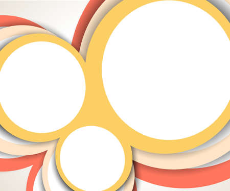 sidebar: Bright color background with design and circles