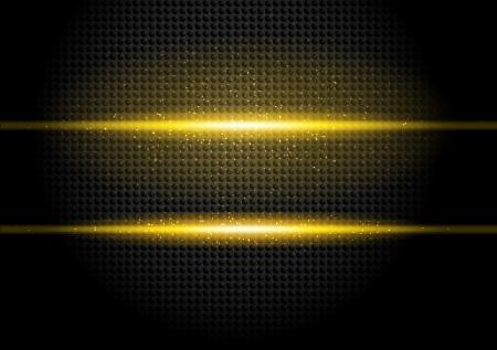strass: Dark background with orange rays and black circles