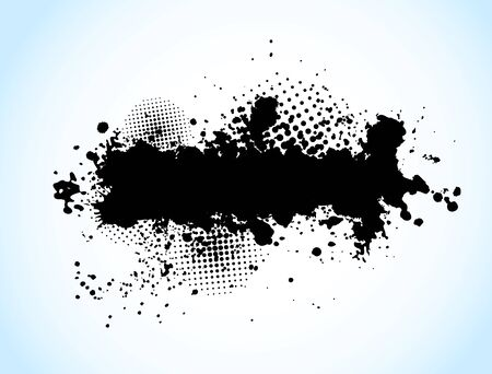 grunge background: Grunge background with circles and black ink