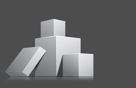 brink: Bright gray background with pile of cubes