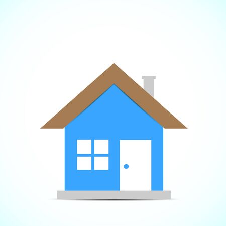 selling house: Bright background with color drawing home
