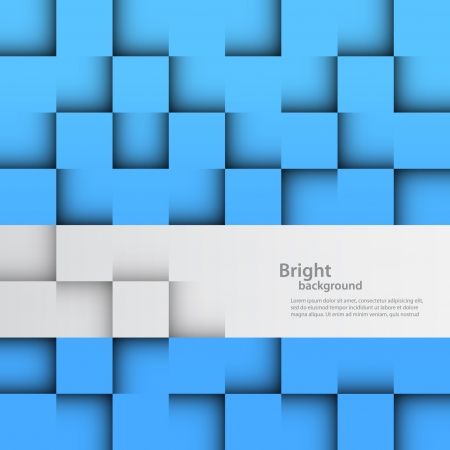 Abstract background with blue and gray squares Vector