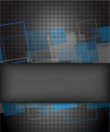 Abstract background with blue and gray squares Stock Vector - 14937492