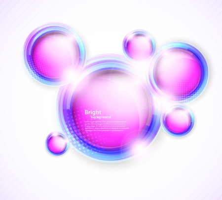 refracting: Background with circles
