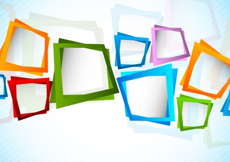 Bright background with colorful squares. Abstract illustration Vector