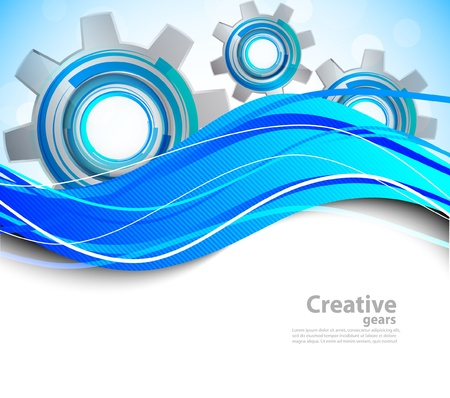 technology banner: Abstract background Illustration
