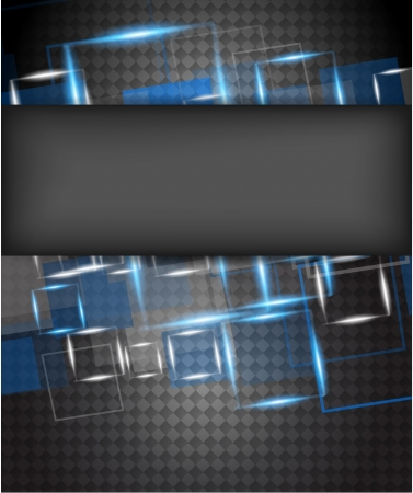 Bright background with shiny squares  Abstract illustration Vector