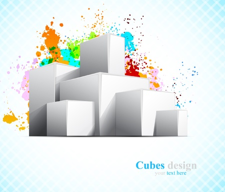 Background with cubes Stock Vector - 14937525