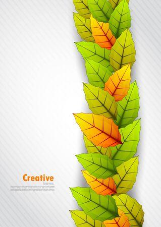 bush mesh: Background with leaves Illustration