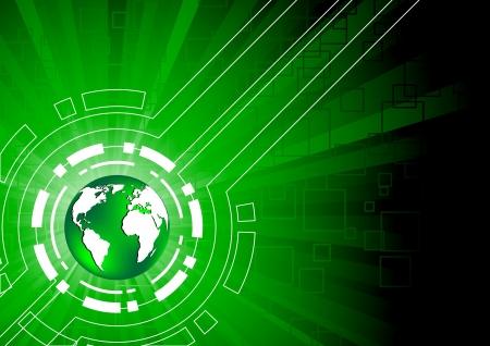 футуристический: Векторные зеленые технологии фон, клип-арт Иллюстрация