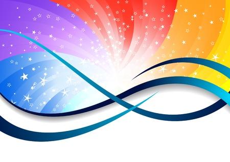 depliant: Vector colorful background; clip-art
