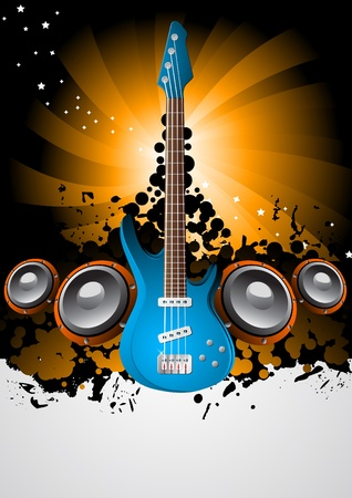 Vector music poster; clip-art Vector
