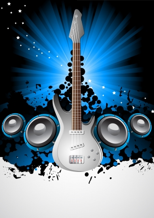 Vector music background; clip-art Vector