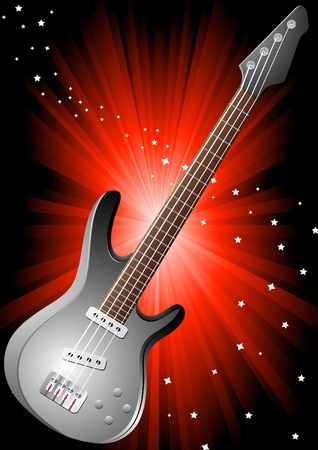background with guitar, clip-art Vector