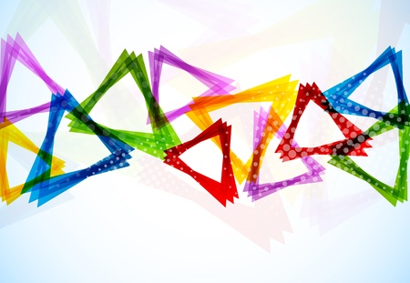banner effect: Background with triangles Illustration