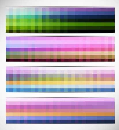 Abstract pixelated banners Stock Vector - 15047519