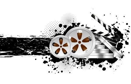gray strip: Cinema background