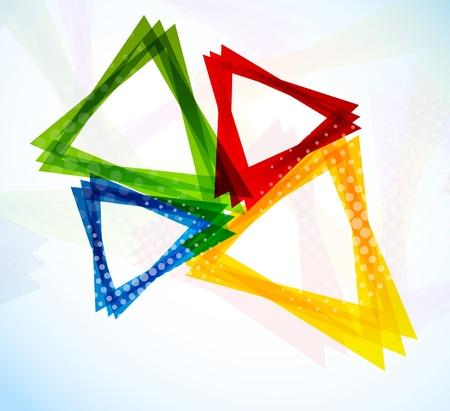 Arrière-plan avec des triangles colorés Vecteurs