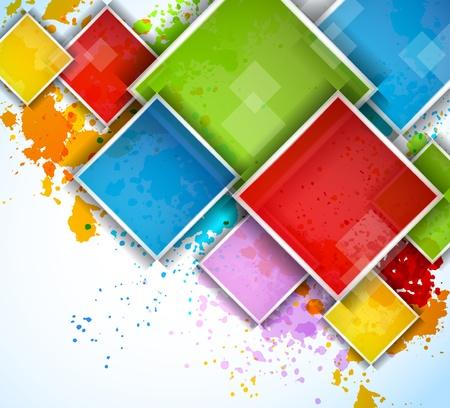 gocce di colore: Quadrati colorati