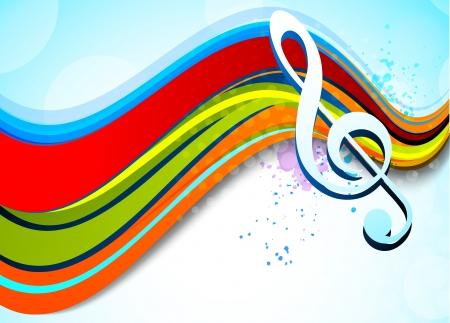 coro: Música de fondo Vectores