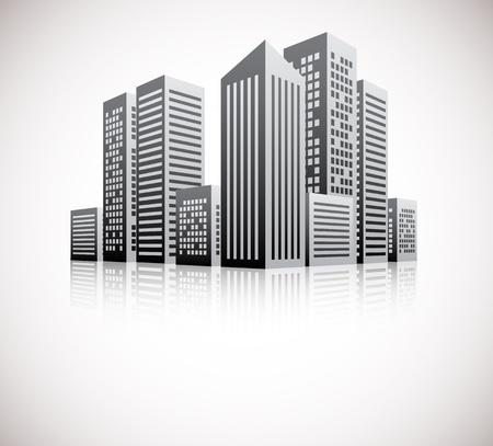Cityscape arrière-plan Vecteurs