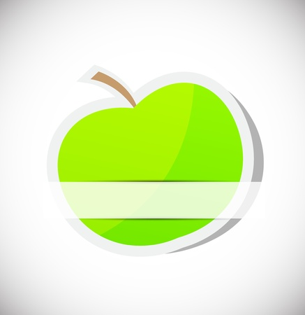 Background with apple Stock Vector - 15223529