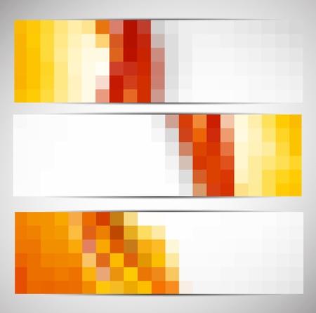 cuadrados: Conjunto de banderas con cuadrados