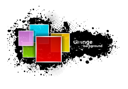 splotch: Grunge background with squares