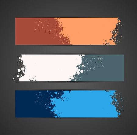 Set of grunge banners. Abstract colorful illustration Vector