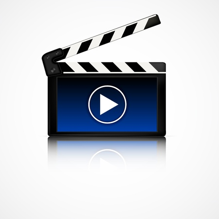 board of director: Clapper bordo con display blu. Cinema attrezzature