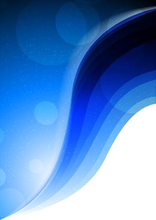 flyer background: Heldere blauwe achtergrond met cirkels. Abstracte illustratie