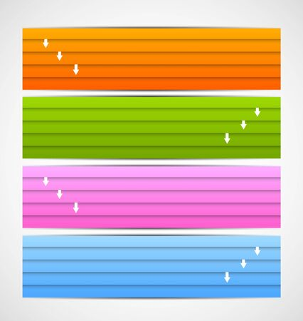 Set of banners with lines. Abstract illustration Vector