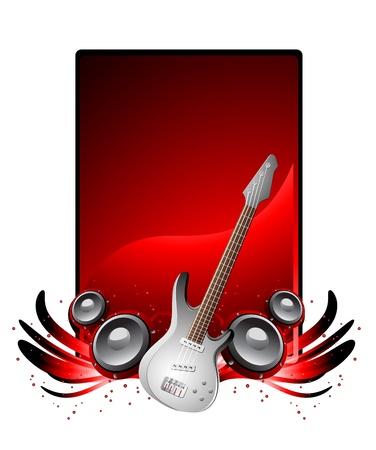 bass guitar: flyer, clip-art