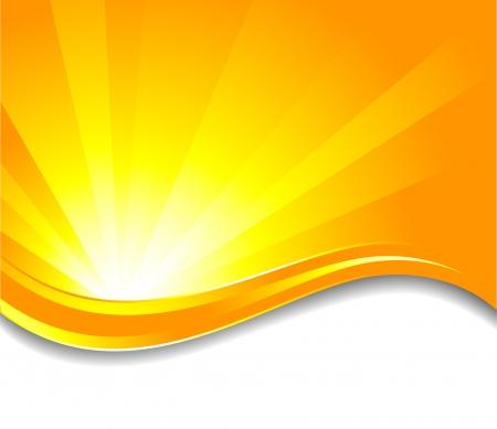 rayos de sol: fondo soleado, clip-art Vectores