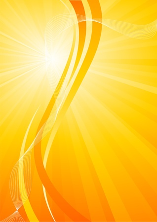 bright orange background, clip-art