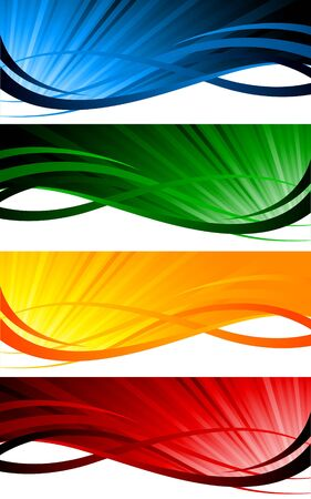green swirl: Vector colorful banners; clip-art Illustration