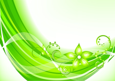 Vector green background; clip-art Vector