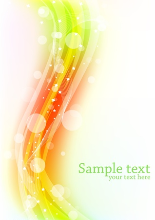 yellow line: Vector abstract colorful background; clip-art Illustration