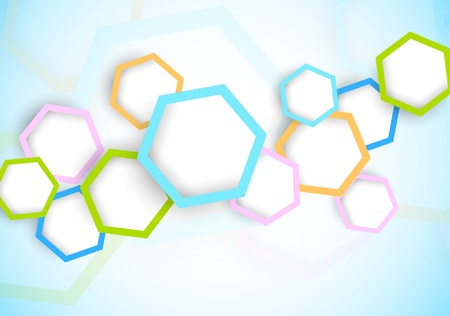 Bright background with colorful hexagons. Abstract illustration Stock Vector - 15472753