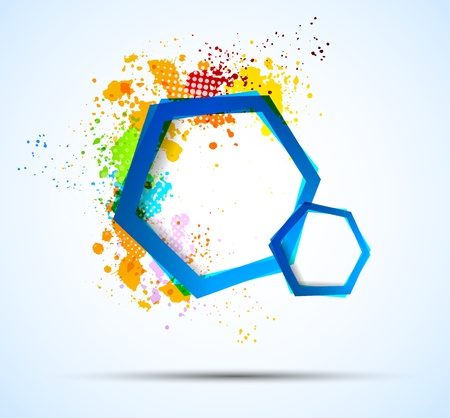 Bright colorful background with hexagons. Abstract illustration Vector