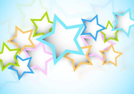 birthday backdrop: Bright colorful background with star. Abstract illustration Illustration