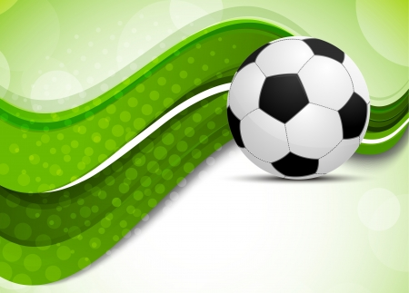 soccer: Green background with soccer ball. Abstract illustration