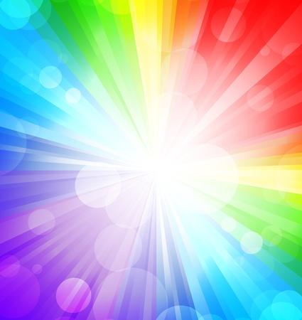 Regenboog achtergrond met cirkels. Abstracte kleurrijke illustratie
