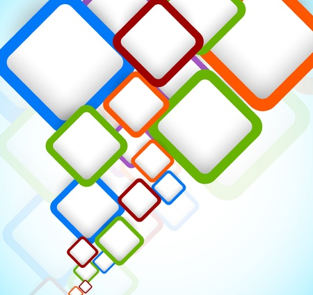 square shape: Bright colorful background with squares  Abstract illustration